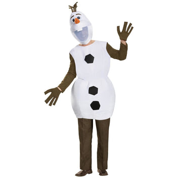 Frozen Olaf Deluxe Adult Costume Large 42-46 - adult halloween costumes Frozen