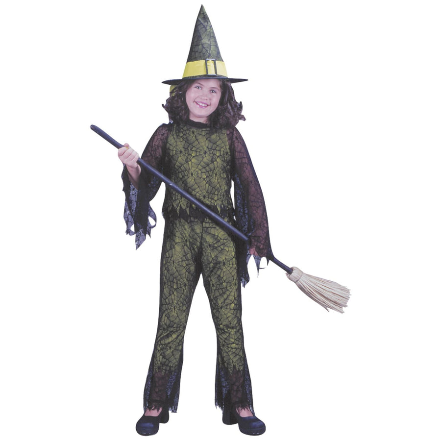 Funky Witch Green Child Md - Girls Costumes girls Halloween costume Halloween