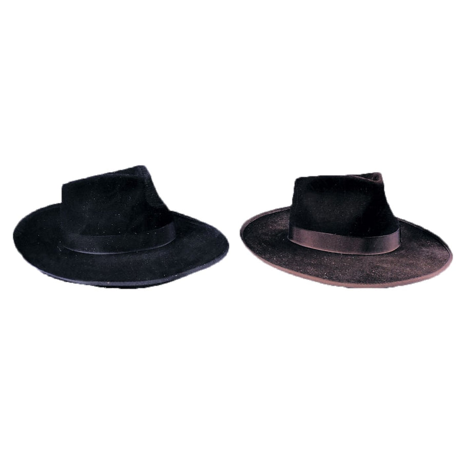 Gangster Hat Black Xl - Gangster & Flapper Costume Halloween costumes Hats
