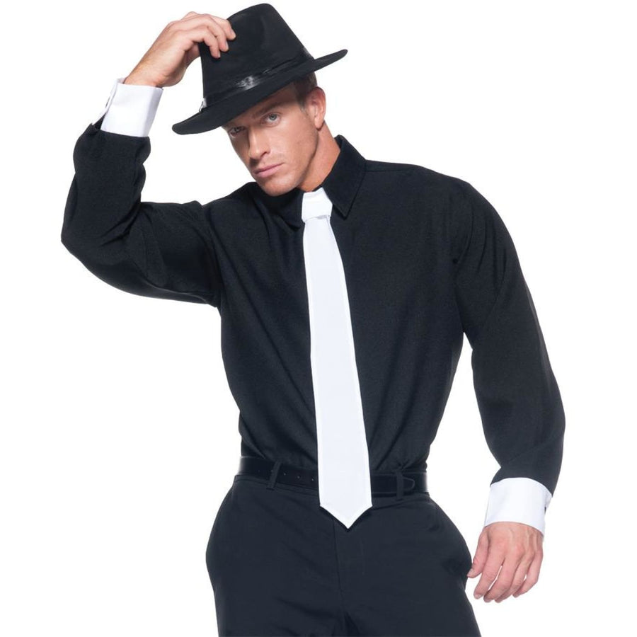Gangster Shirt Adult Costume Xlarge - adult halloween costumes Gangster &