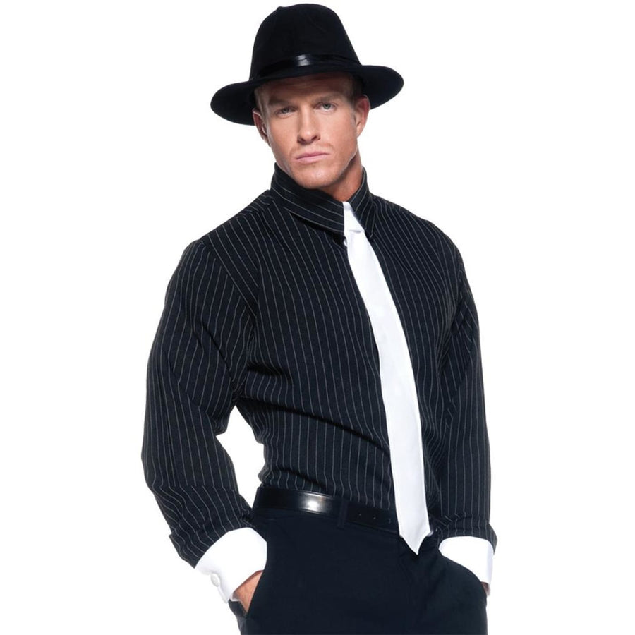 Gangster Shirt Striped Adult Costume Standard Size - 20s - 40s Costume Gangster