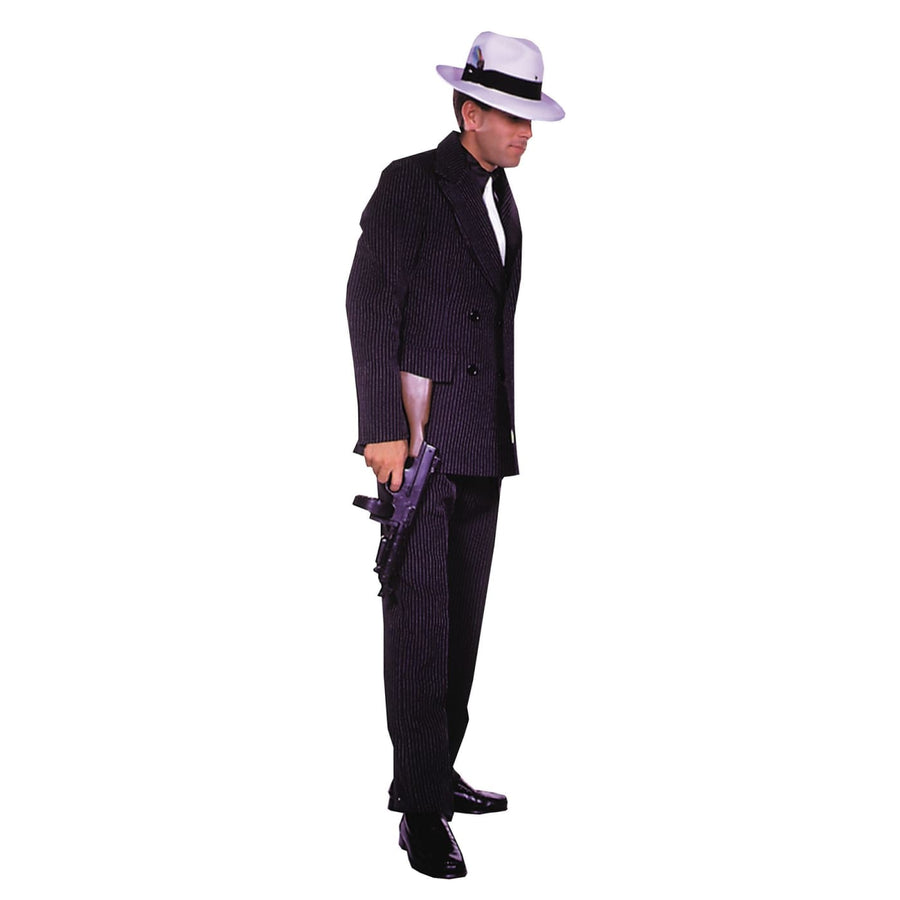 Gangster Suit Brown Sm - adult halloween costumes Convict & Cop Costume Gangster