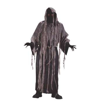 Gauze Zombie With Flashing Eyes - adult halloween costumes Ghoul Skeleton &
