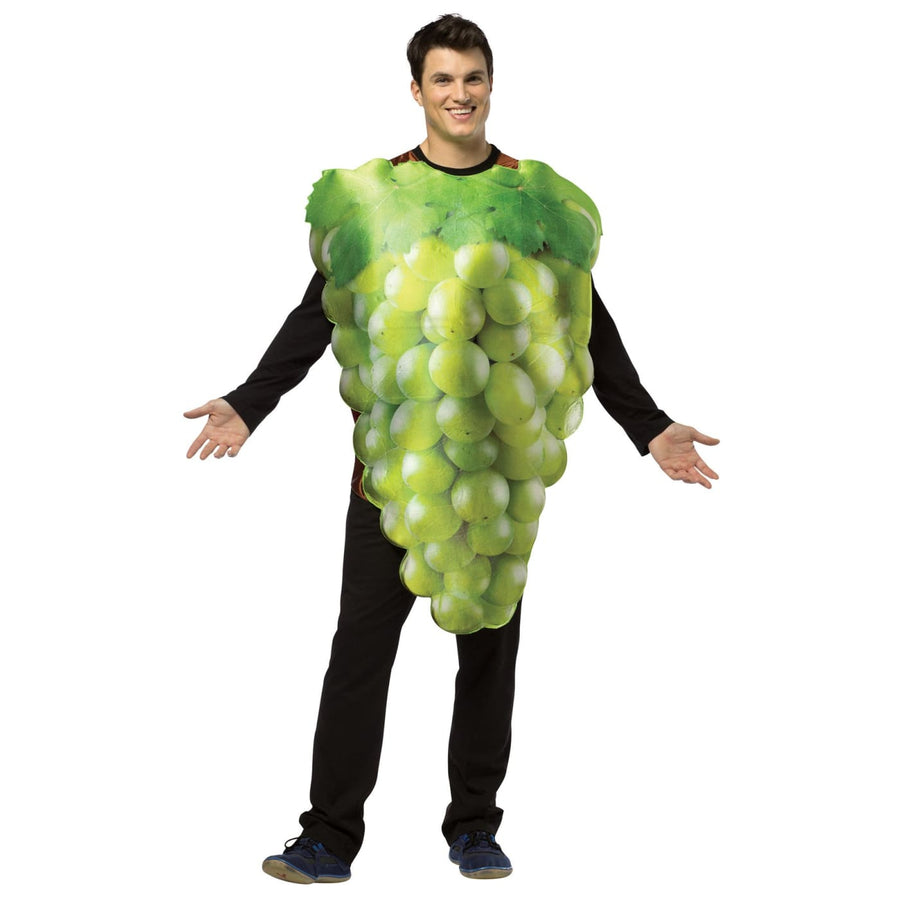Get Real Bunch Of Green Grapes Adult Costume - adult halloween costumes female