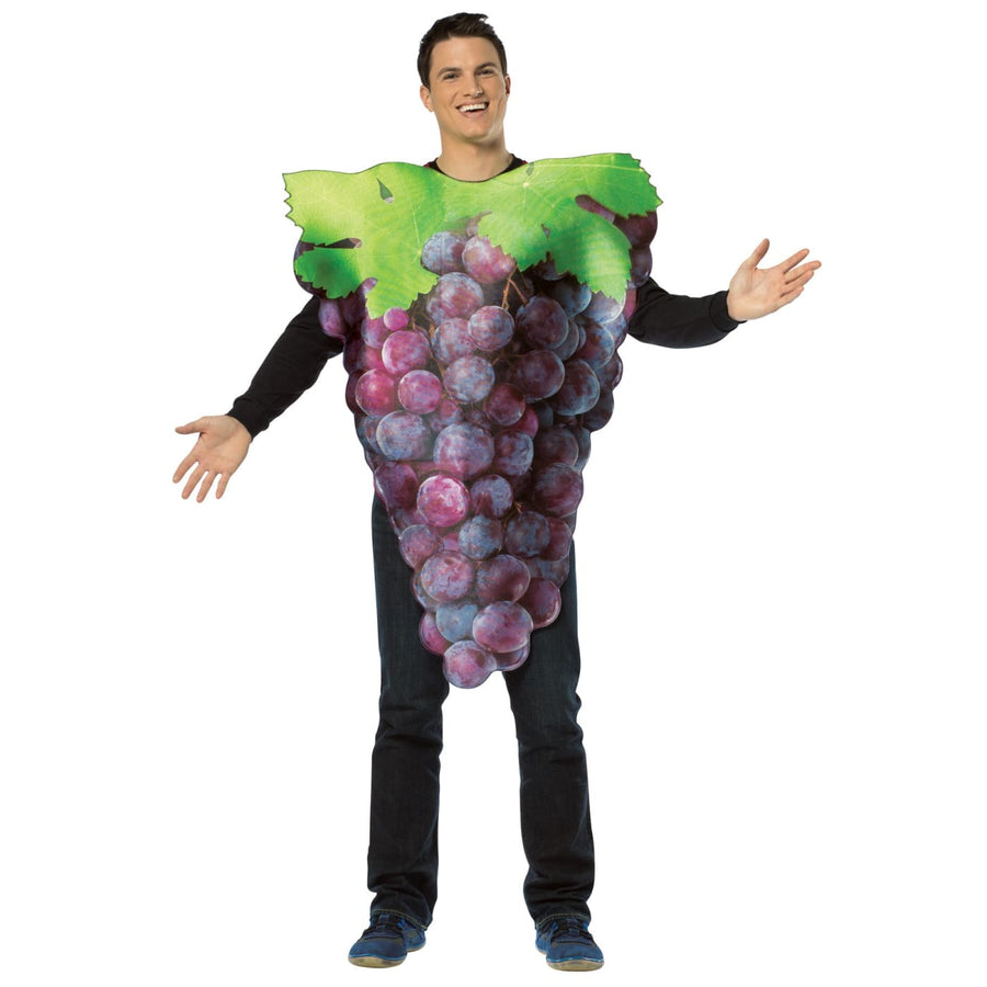 Get Real Bunch Of Purple Grapes Adult Costume - adult halloween costumes female