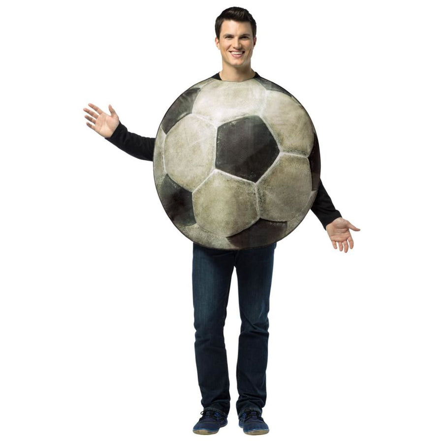 Get Real Soccer Ball Adult Costume - adult halloween costumes Cheerleader &