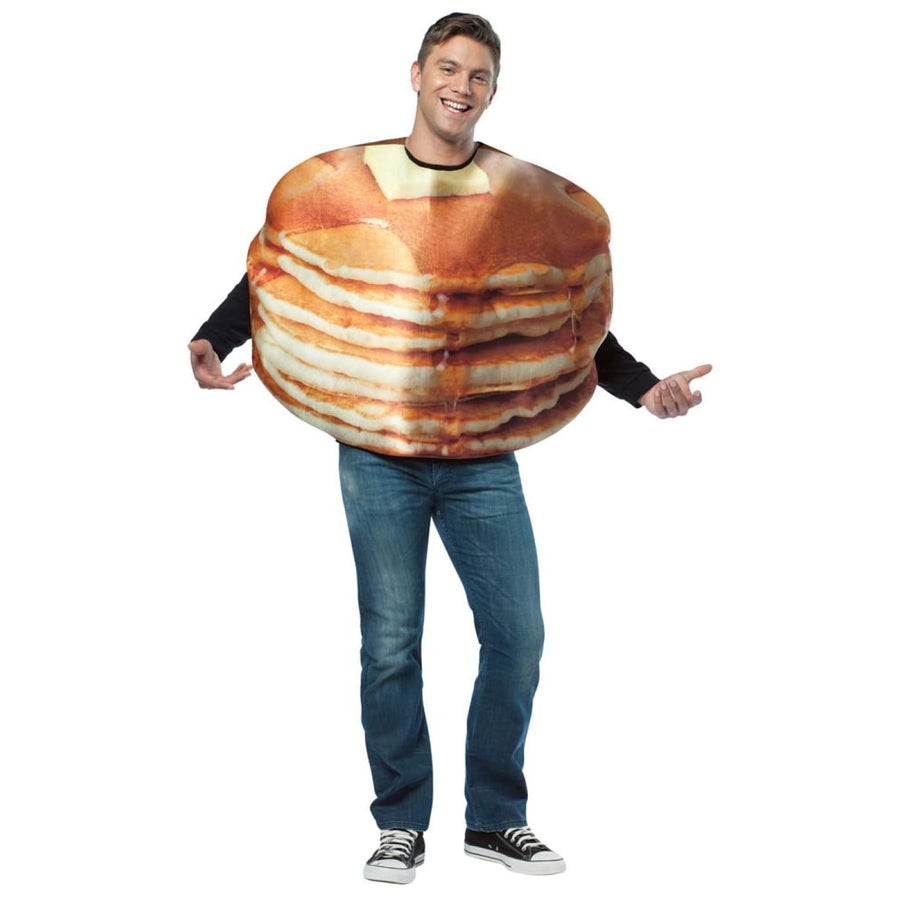 Get Real Stacked Pancakes Adult Costume - adult halloween costumes halloween
