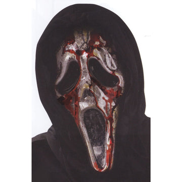Ghost Face Bleeding Zombie Mask - Costume Masks Ghost Halloween Costume