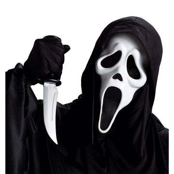 Ghost Face With Knife Mask - Costume Masks Ghost Halloween Costume Halloween