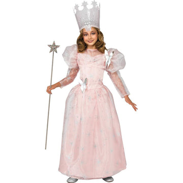 Glinda Good Witch Deluxe Girls Costume Small - Girls Costumes New Costume