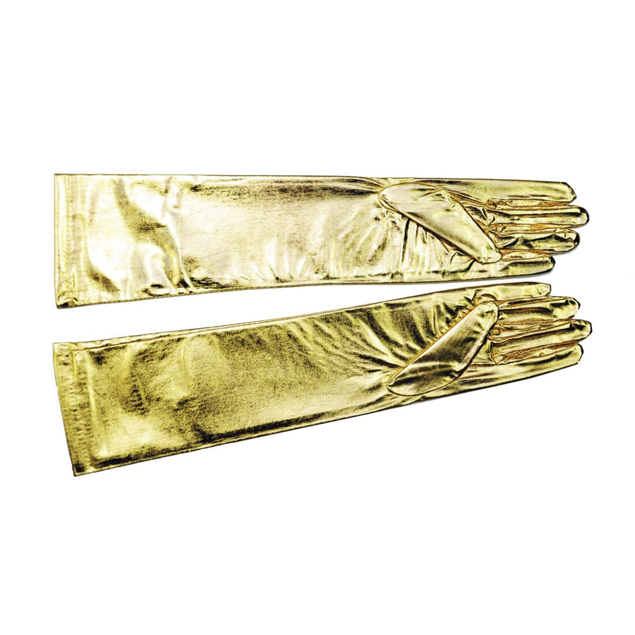 Gloves Elbow Metallic Gold - Glasses Gloves & Neckwear Halloween costumes