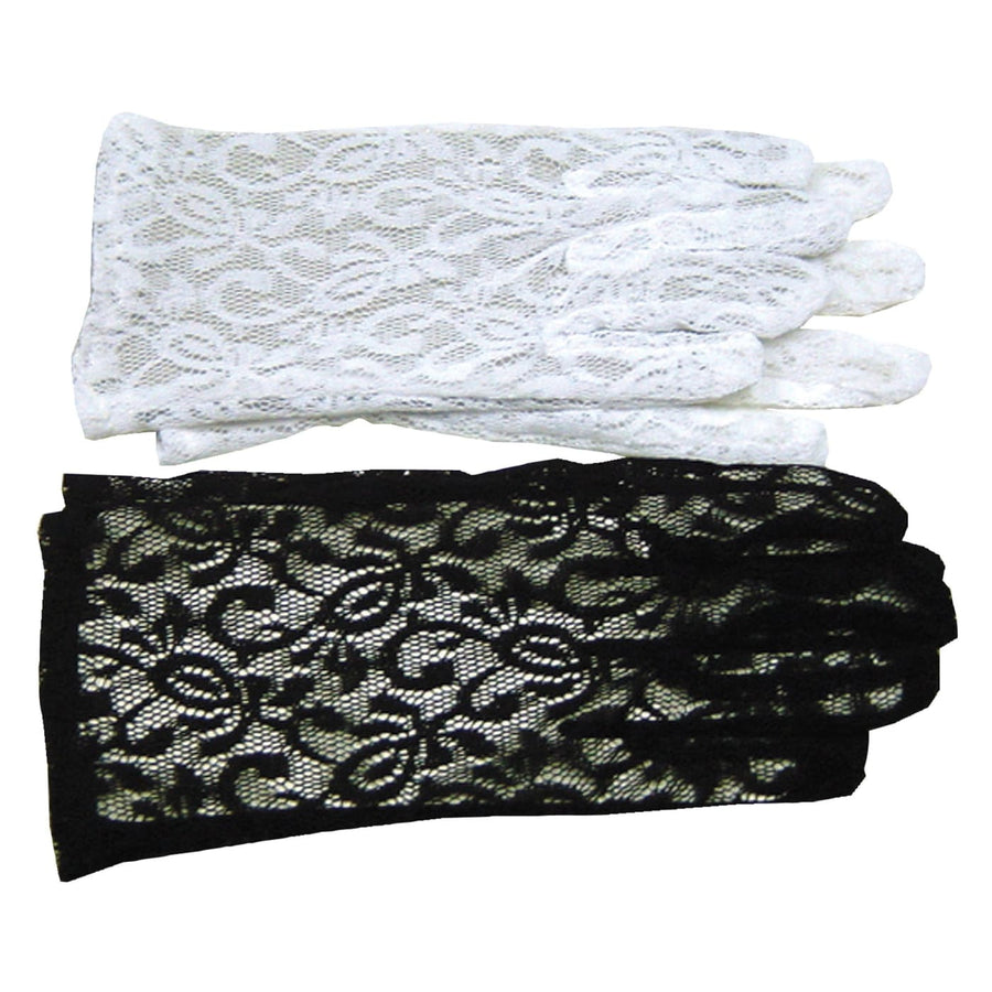 Gloves Lace White - Glasses Gloves & Neckwear Halloween costumes