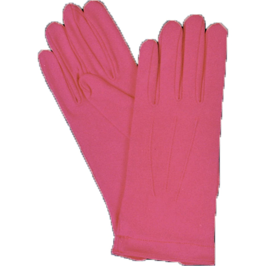 Gloves Nylon W Snap Hot Pink - Glasses Gloves & Neckwear Halloween costumes