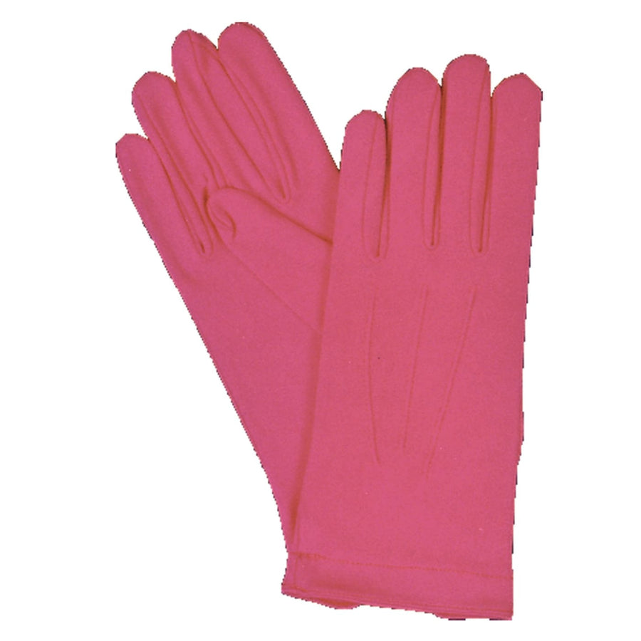 Gloves Nylon W Snap Hot Pink Youth - Glasses Gloves & Neckwear Halloween