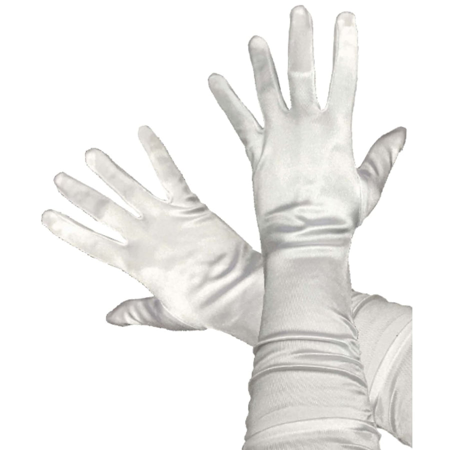 Gloves Opera Adult White - Halloween costumes