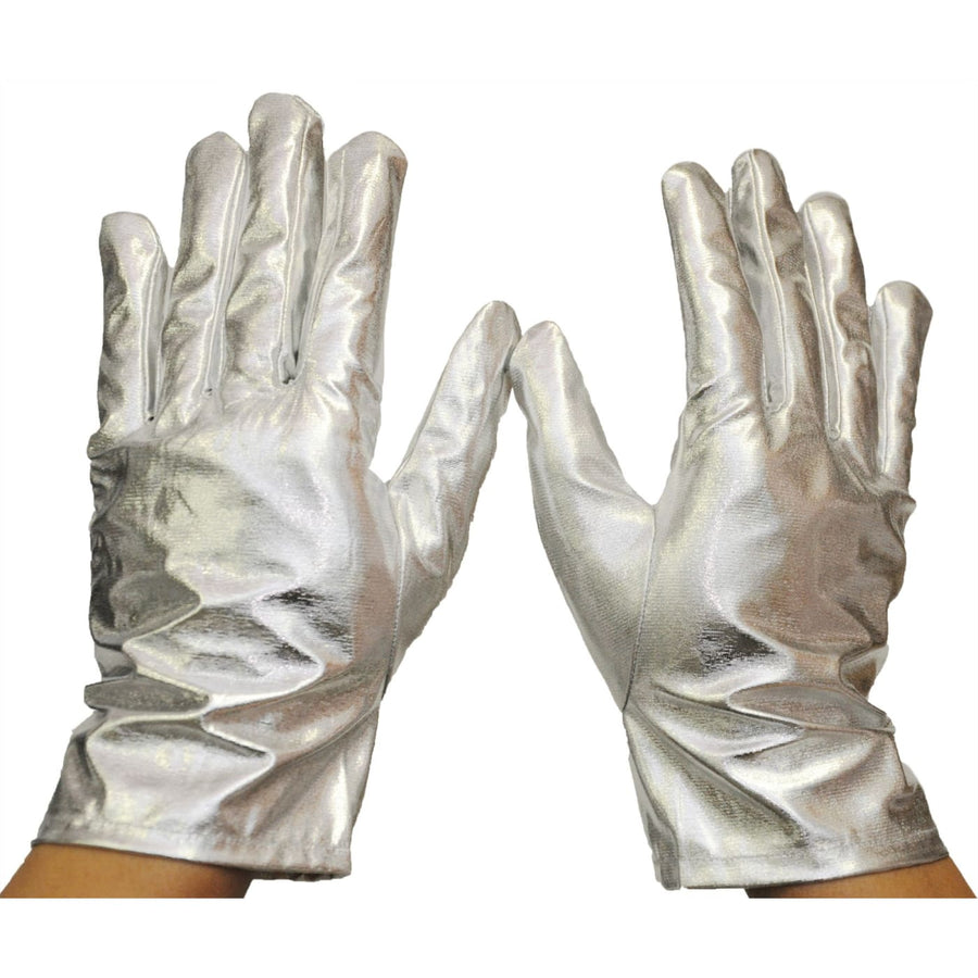 Gloves Reg Metallic Silver - Glasses Gloves & Neckwear Halloween costumes