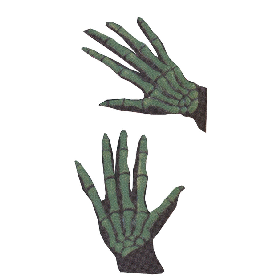 Gloves Skeleton Oversized Green - Ghoul Skeleton & Zombie Costume Halloween