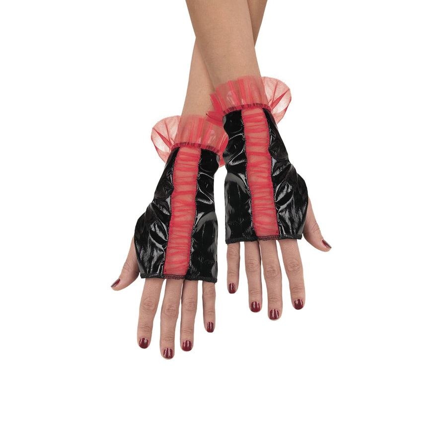 Glovettes Rd Black Rouged Adult - Glasses Gloves & Neckwear Halloween costumes