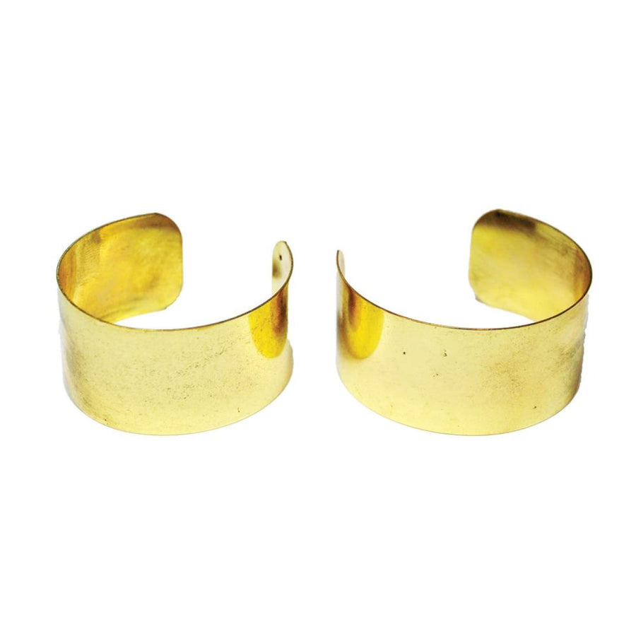 Gold Arm Cuffs Pair - New Costume