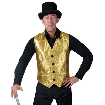 Gold Vest Adult Costume Sm - 80s Costume adult halloween costumes halloween