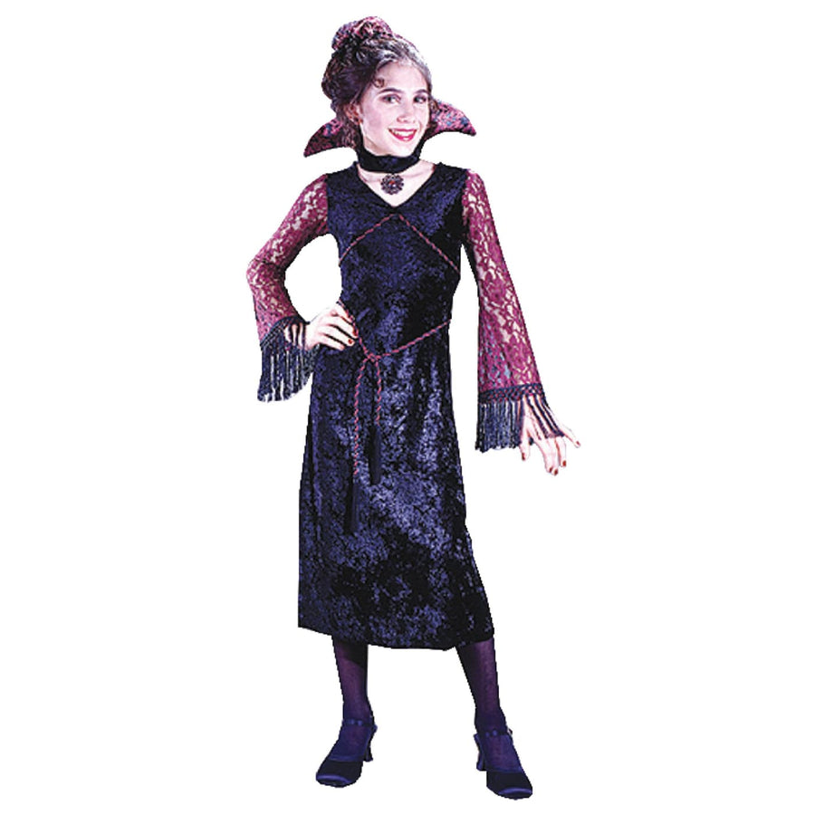 Gothic Lace Vampiress Ch Sm - Girls Costumes girls Halloween costume Gothic &
