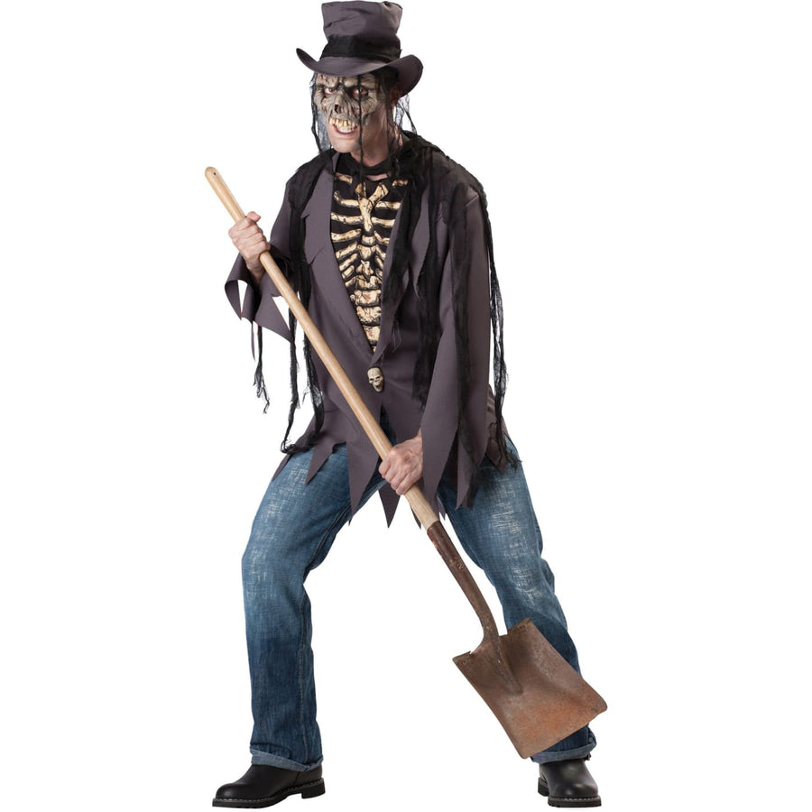 Grave Robber Adult Lg - adult halloween costumes Ghoul Skeleton & Zombie Costume