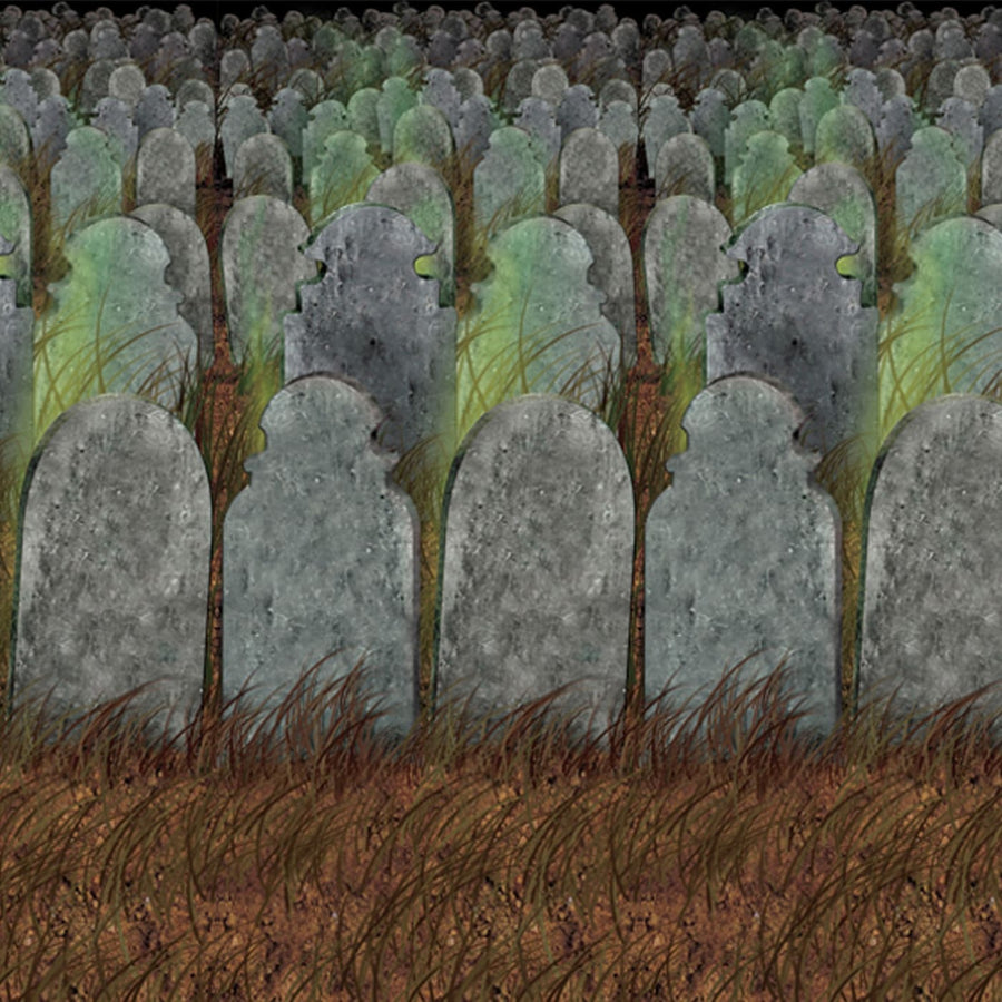 Graveyard Backdrop - Decorations & Props Halloween costumes haunted house