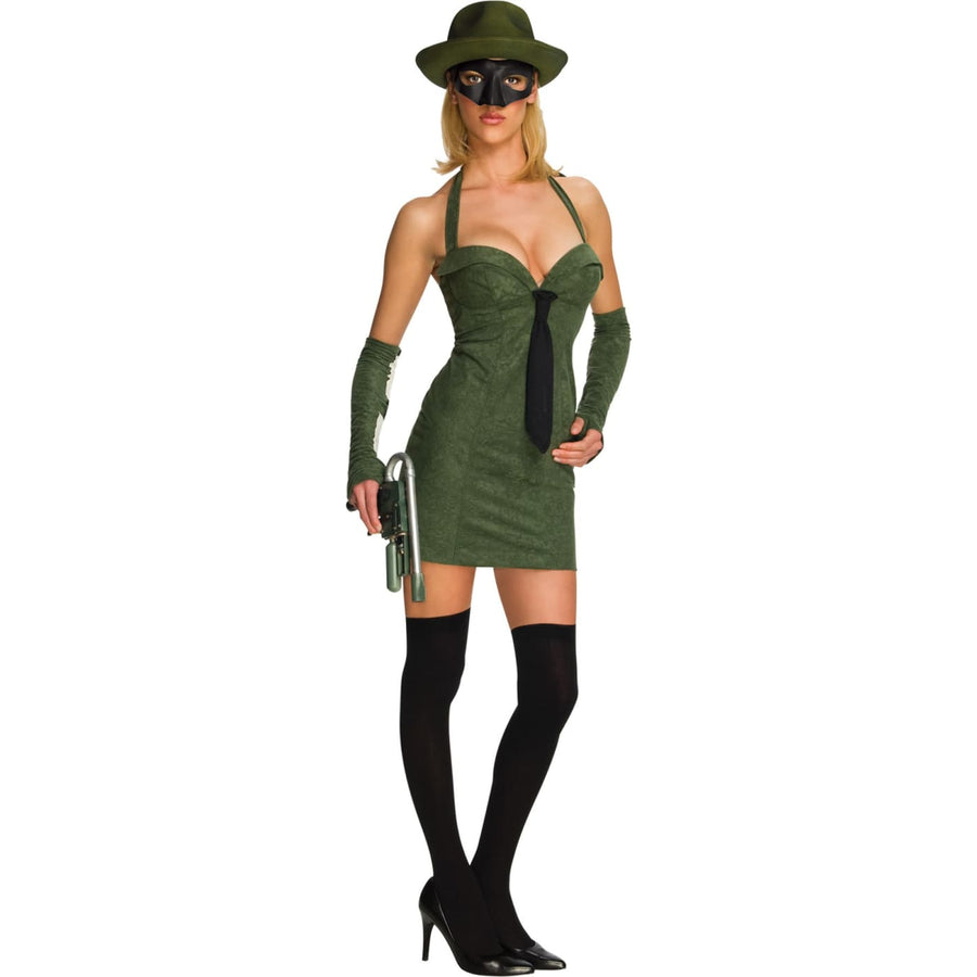 Green Hornet Sexy Adult Costume Xsmall - adult halloween costumes female