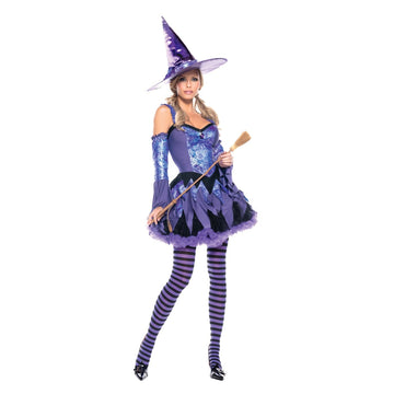 Gypsy Witch Adult Costume Sm Md - adult halloween costumes female Halloween