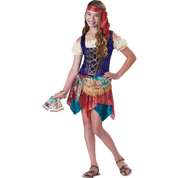 Gypsys Spell Kids Costume Sm 8-10 - Fortune Teller & Gypsy Costume Girls