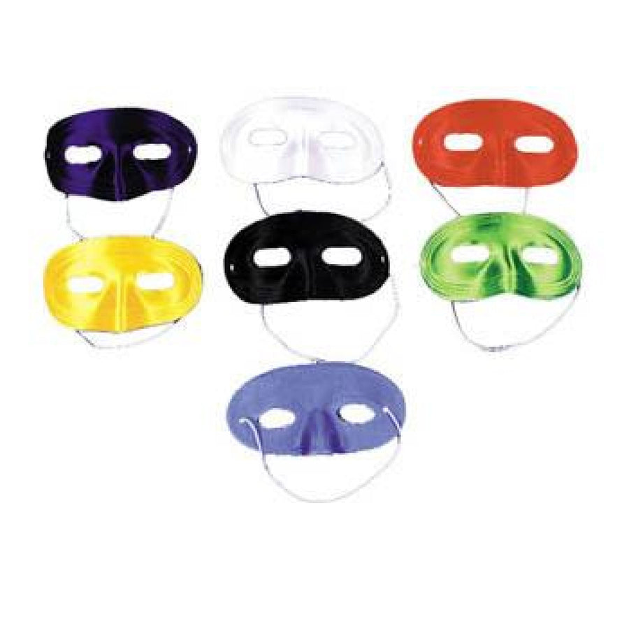 Half Mask Satin White - Costume Masks Halloween costumes Halloween Mask