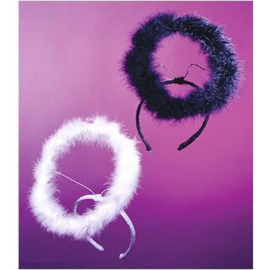 Halo Marabou Black - Angel & Fairy Costume Hats Tiaras & Headgear