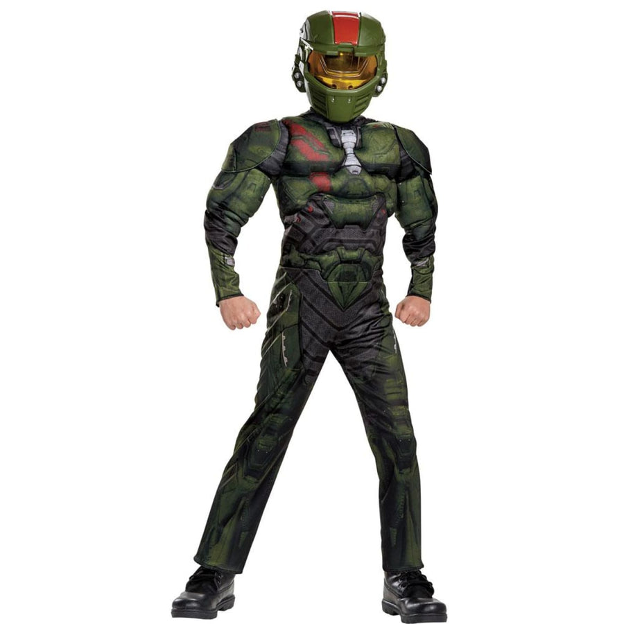 Halo Wars Jerome Muscle Boys Costume Large 10-12 - Boys Costumes Halloween