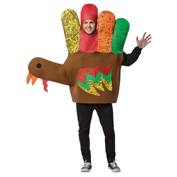 Hand Turkey Adult Costume - adult halloween costumes Halloween Costumes Mens