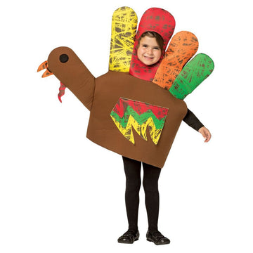 Hand Turkey Kids Costume Small 4-6 - Boys Costumes Girls Costumes Halloween