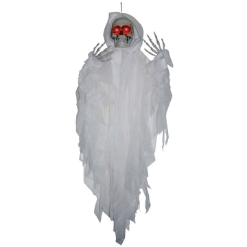 Hanging Light Up Wht Reaper - Decorations & Props Halloween costumes haunted