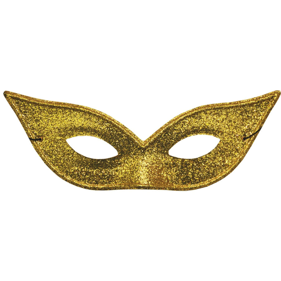 Harlequin Mask Lame Gold - Costume Masks Halloween costumes Halloween Mask