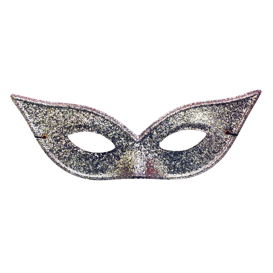 Harlequin Mask Lame Silver - Costume Masks Halloween costumes Halloween Mask
