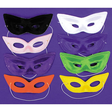 Harlequin Mask Satin White - Costume Masks Halloween costumes Halloween Mask