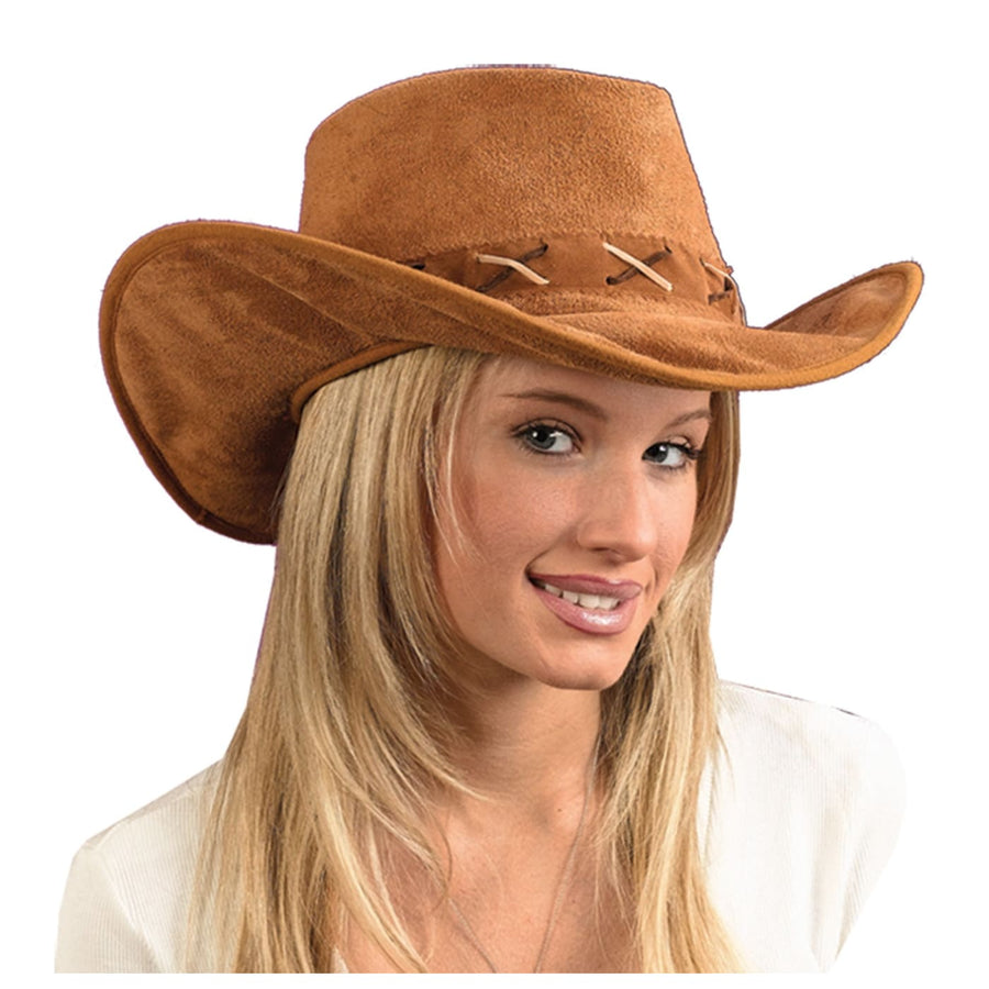 Hat Cowboy Suede-Look - Halloween costumes Hats Tiaras & Headgear Pirate Costume