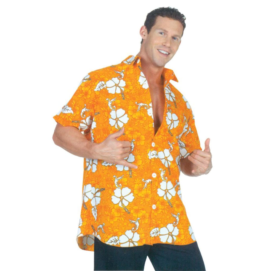 Hawaiian Shirt Orange Adult Costume - adult halloween costumes halloween