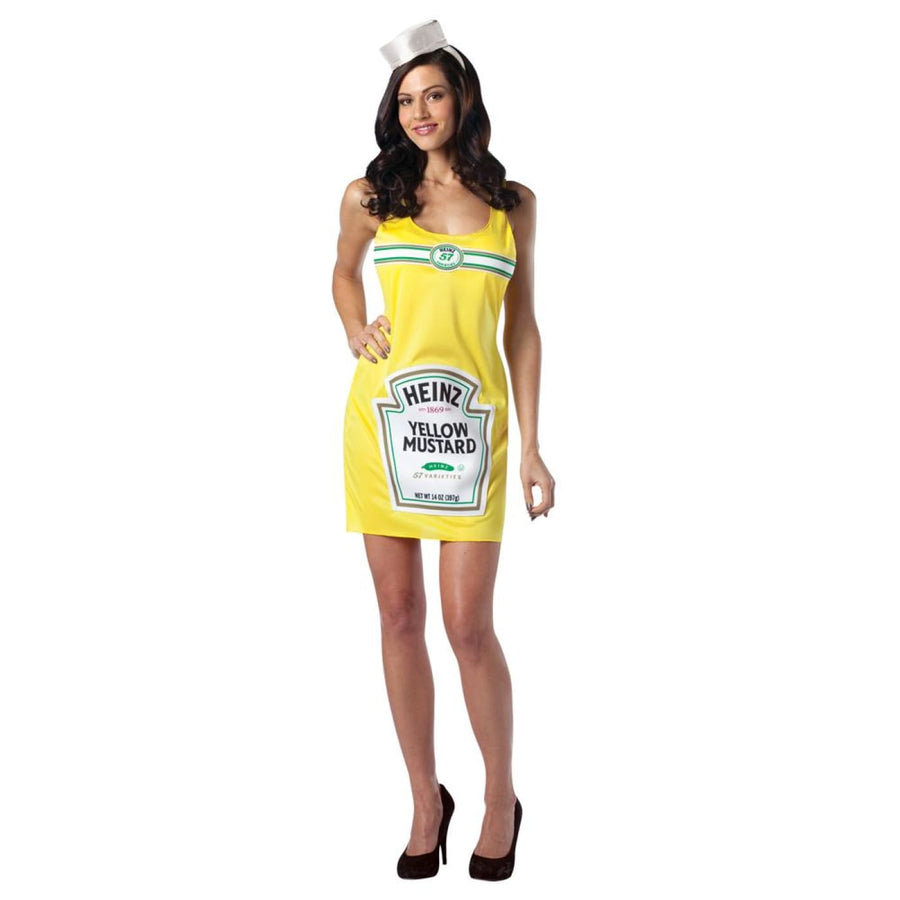 Heinz Mustard Bottle Dress Adult Costume - adult halloween costumes Halloween