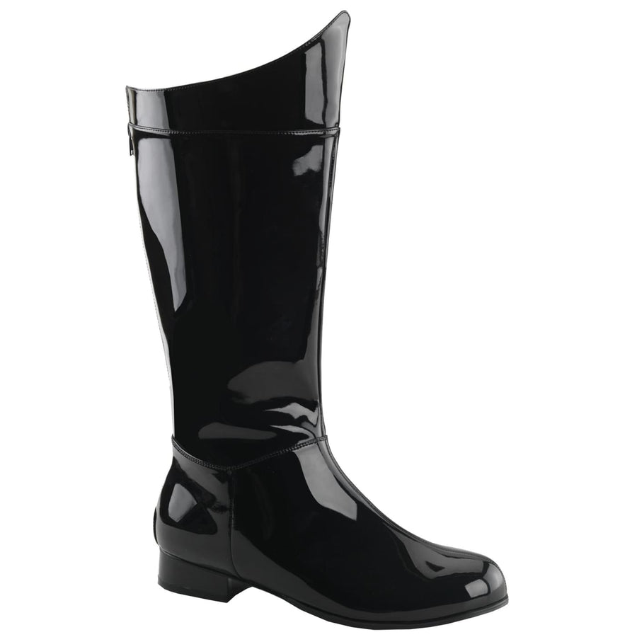 Hero 100 Black-Pat Sm Boot 8-9 - Halloween costumes Shoes & Boots