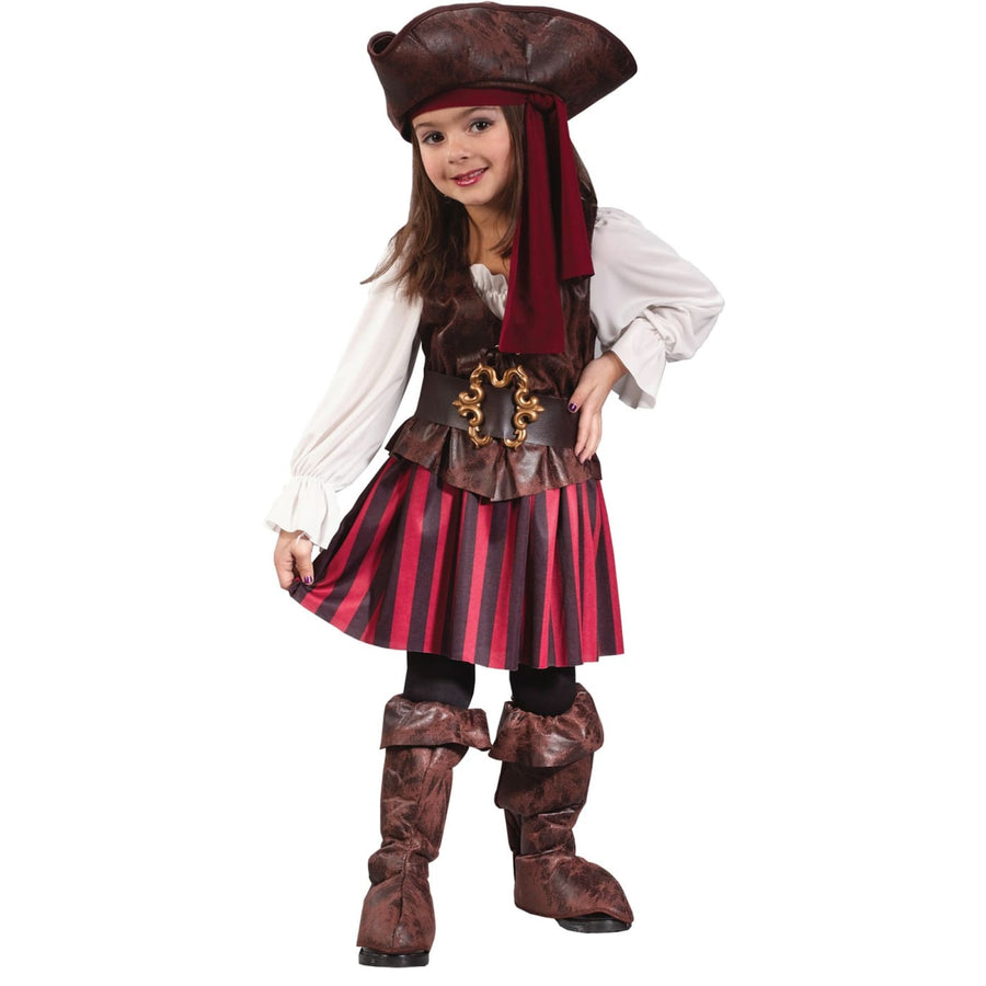 High Seas Pirate Toddler Costume Girl 3T-4T - Halloween costumes Pirate Costume