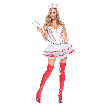 Home Care Nurse Sexy Adult Costume XLg - adult halloween costumes Doctor & Nurse