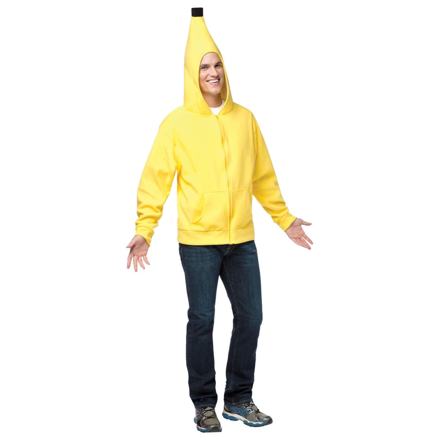 Hoodie Banana Adult Costume Xlarge - adult halloween costumes Halloween Costumes