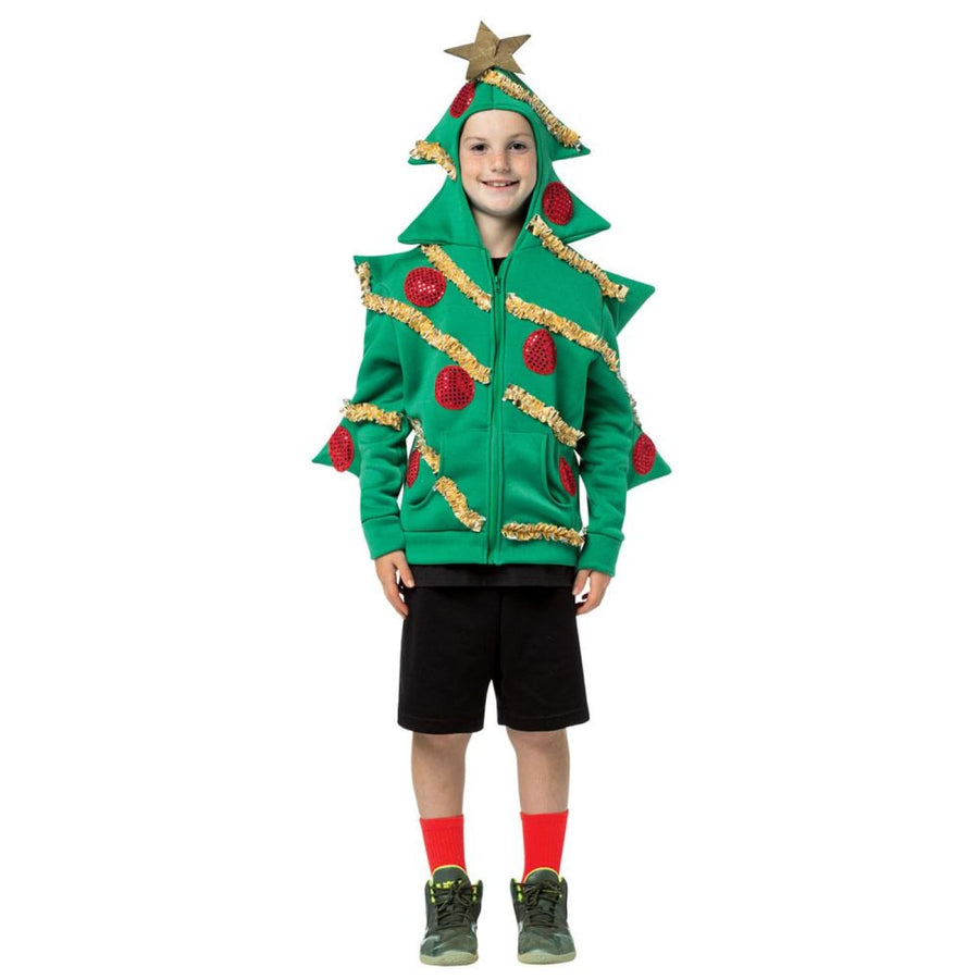 Hoodie Christmas Tree Teen Kids Costume 13-16 - Boys Costumes Girls Costumes