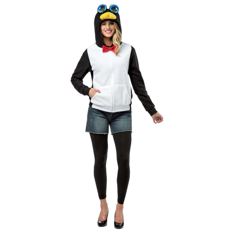 Hoodie Penguin Adult Costume Medium - adult halloween costumes Halloween