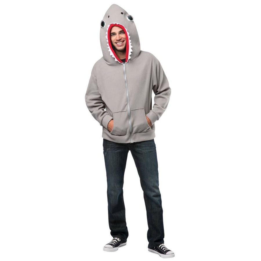 Hoodie Shark Adult Costume Large - adult halloween costumes halloween costumes