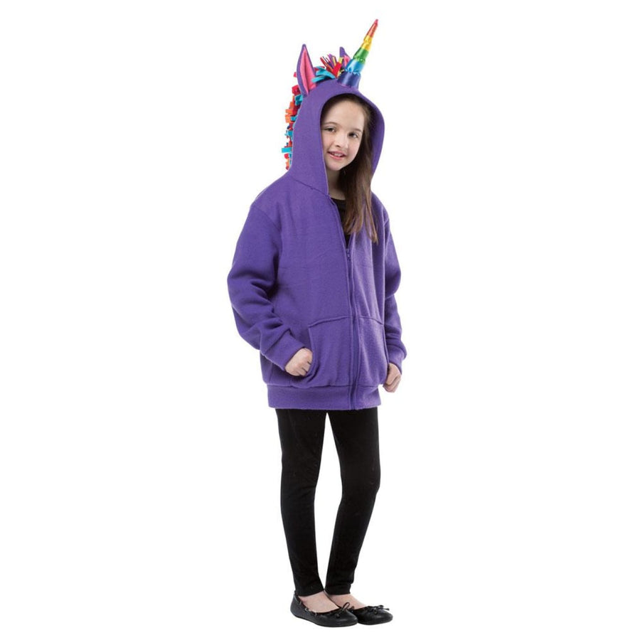 Hoodie Unicorn Purple Teen Costume 13-16 - Girls Costumes Halloween costumes